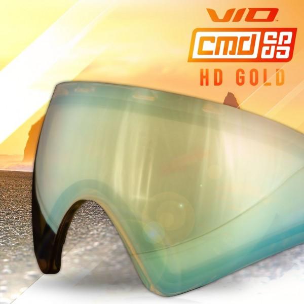 Paintball Maskenglas Virtue VIO / Bunker Kings CMD Thermal HD Gold