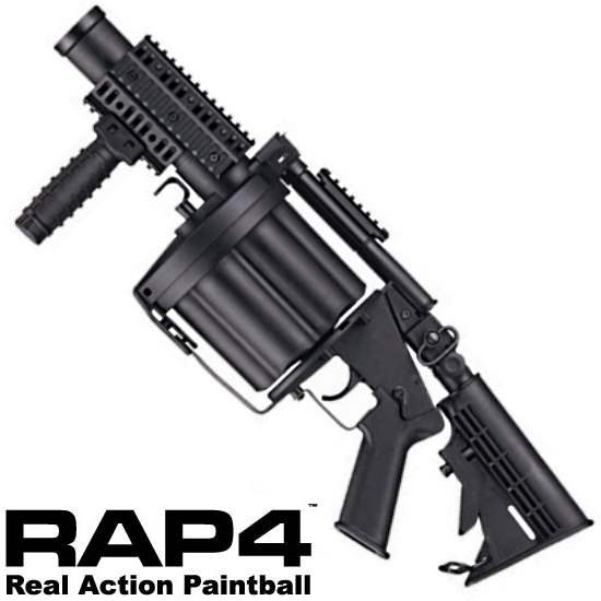 RAP4 ICS M203 Trommel Granatwerfer 40mm für Paintball oder Softair