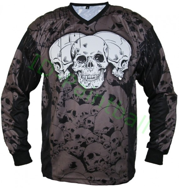 IDP Jersey The Skulls Grey Paintball Jersey
