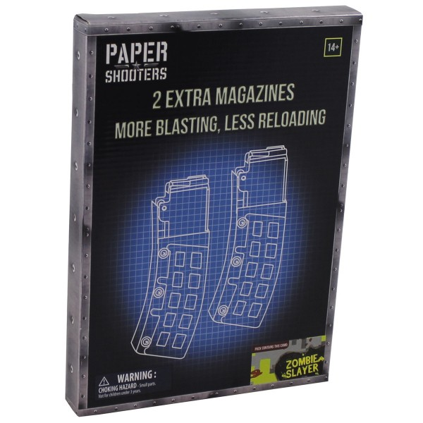 "PAPER SHOOTERS, Bausatz, ""Magazin-Zombie"", 2er Pack"
