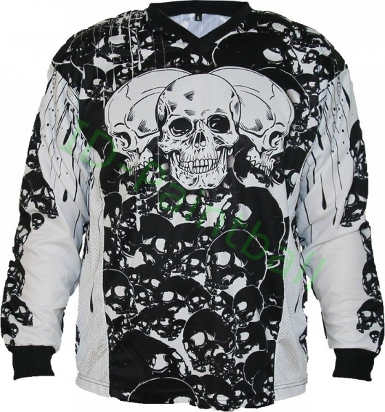 IDP Jersey The Skulls Schwarz Paintball Trikot
